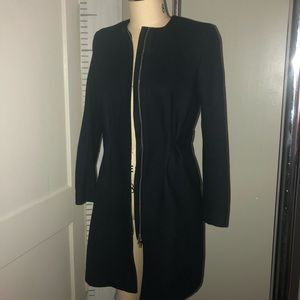 H&M NAVY BLUE WOOL COAT GOOD CONDITION